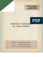 Vol. 41 Instalaciones Eléctricas Domiciliarias Roscado y Escariado de Tubo Conduit