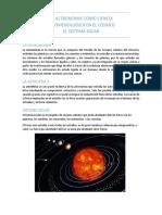 Incidencia de La Astronomia y La Astrofisica en La Naturaleza