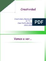 Creatividad en los problemas