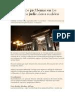 Conozca Los Problemas en Los Descuentos Judiciales a Sueldos