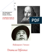 SDS..Shakespeare.ionesco.conference Poster.engl