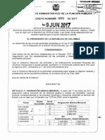 Decreto 980 Del 09 de Junio de 2017