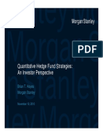 Quantitative Hedge Fund Strategies
