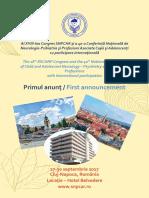 Congres Cluj Napoca 2017 Primul Anunt