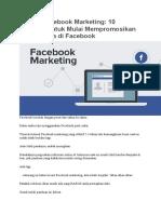 Belajar Facebook Marketing