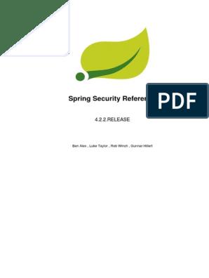 Spring Security Reference | Spring Framework | Active Directory