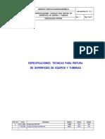 Ji16!10!1 Especificaciones Tecnicas Pintura Tuberia y Equipos