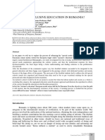 [European Review of Applied Sociology] Special or Inclusive Education in Romania