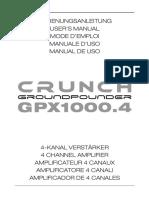 Manual GPX1000.4