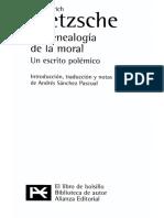 Nietzsche - Tratado Segundo - Genealogía de La Moral