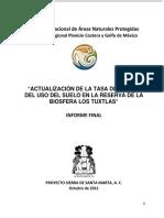 Actualización de la tasa de cambio de uso del suelo en la Reserva de la Biosfera....pdf