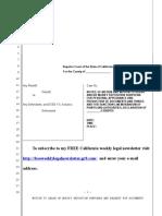 Sample Motion to Quash or Modify Deposition Subpoena in California