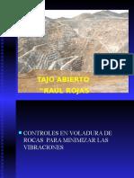 CONTROLES EN VOLADURA DE ROCAS  PARA MINIMIZAR LAS VIBRACIONES.ppsx