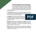 CIENCIAS QUE SE RELACIONAN CON LA PEDAGOGÍA.docx