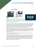 Cisco IP Phone 8851 Data Sheet