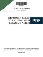 Demonio, religion y sociedad. Fermin Del Pino