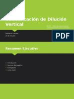Cuantificación de Dilución Vertical