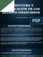 Estructura y Clasificacion de Los Estados Financieros