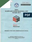 SOAL OSN IPS SMP Tingkat Kabupaten 2017