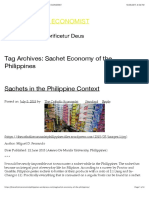 Sachet Economy of the Philippines | THE CATHOLIC ECONOMIST