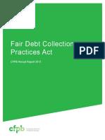 201303 Cfpb March FDCPA Report1