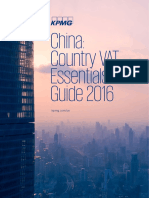 China Country Vat Essentials Guide 2016