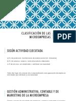 Clasificación de Las Microempresas