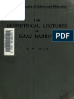 The Geometric Lectures of Isaac Barrow