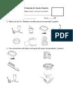 Evaluación de Ciencias Higiene y Alimentacion Saludable