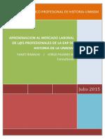 Anexo 5 - Estudio de Mercado Laboral de Historiadores de La Unmsm