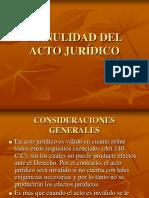 Nulidad Del Acto Juridico DERECHO