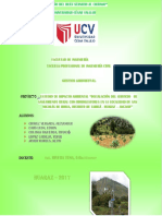 Estudio de Impacto Ambiental - Saneamiento Tarica