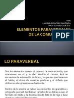Elementos Paraverbales