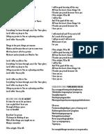 Grad Song Lyrics n Cover of Sf