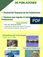 Ecologia de Poblaciones (Disciplinas, Patrones,Disposicion, Interacciones,Factores)