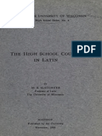 The High School Course in Latin