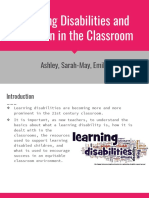 learning disabilities and inclusion in the classroom