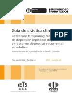 M1. GPC Depresion Para Pacientes y Familiares