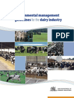 Environmental Management Guidelines for the Dairy Industry