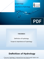 1-Introduction to Hydrology