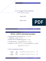 Support Vector Machine Notes