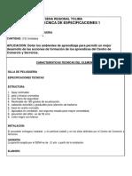 Ficha Tecnica de Especificaciones 1