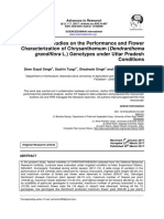 Studies on the Performance and Flower Characterization of Chrysanthemum (Dendranthema grandiflora L.) Genotypes under Uttar Pradesh Conditions