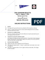 2010 Ephraim Regatta Sailing Instructions