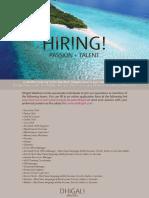 Dhigali Job Ad(HODs)