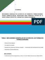 TEMA 2- Mecanismos Generales de Acción de Los Fármacos