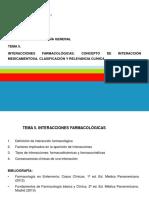 TEMA 5. Interacciones Farmacológicas