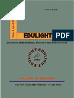 EDULIGHT Volume - 3, Issue - 6, Nov 2014