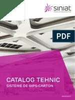 Catalogul Tehnic Pentru Sisteme Gips Carton Siniat