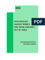 R.A. 9262 Violence against Women and Children with I.R.R.